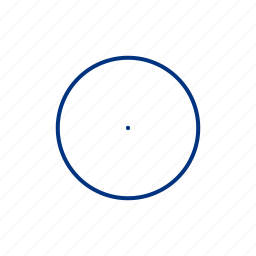 atom, center, centre, mole, radius, shape, target icon