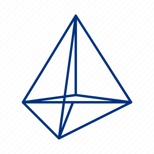 polygone, science, shape, triangle, trigonometry icon
