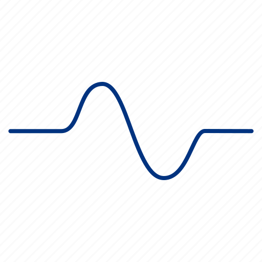 cosine, graph, line, negative, positive, sinusoid, wave icon