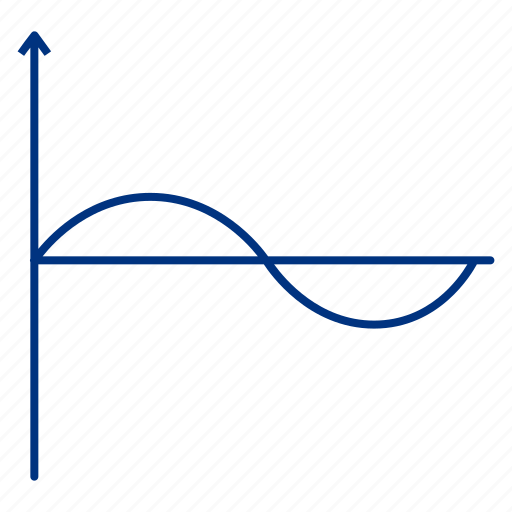 graph, line, science, sine, sinusoid, wave icon
