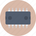 computer chip, ic, integrated circuit, microchip, silicon chip icon