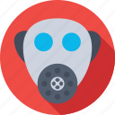 danger, gas mask, respirator mask, safety, safety mask icon