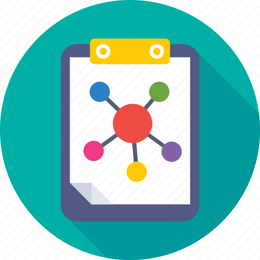 atom, clipboard, notes, science, science notes icon