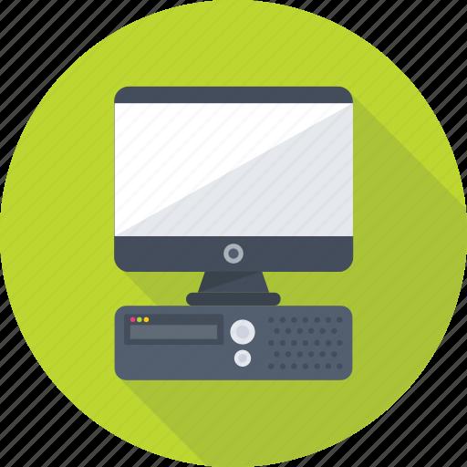 computer, cpu, desktop, lcd, monitor icon