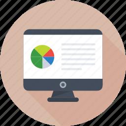 analytics, graph, monitor, online graph, pie chart icon