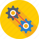 cog chain, configuration, customization, gearwheel, preferences icon