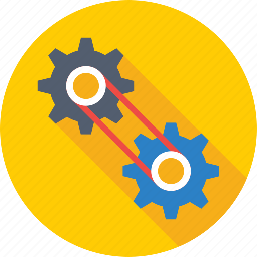 cog chain, configuration, customization, gearwheel, preferences icon