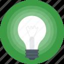 bulb, electric bulb, light bulb, illumination, light icon