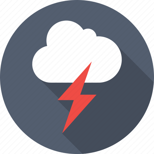 cloud, sky, thunder, thunderstorm, weather icon