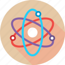 atom, biomedical, electron, molecular, physics, science icon