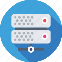 database, network, server, storage, web hosting icon