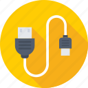 data cable, micro usb, usb cable, usb cord, usb plug icon