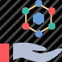 dna, hold, molecule, science icon