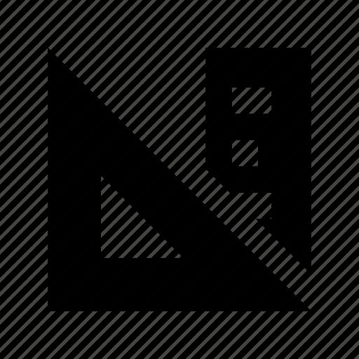 Geometry, ruler, geometry tool, scale, triangle tool icon
