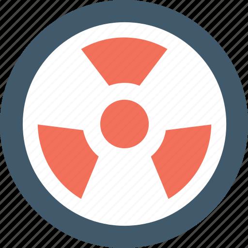 danger, nuclear, radiation, radioactive, toxic icon