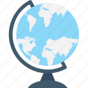 desk globe, education, globe, map, table globe icon