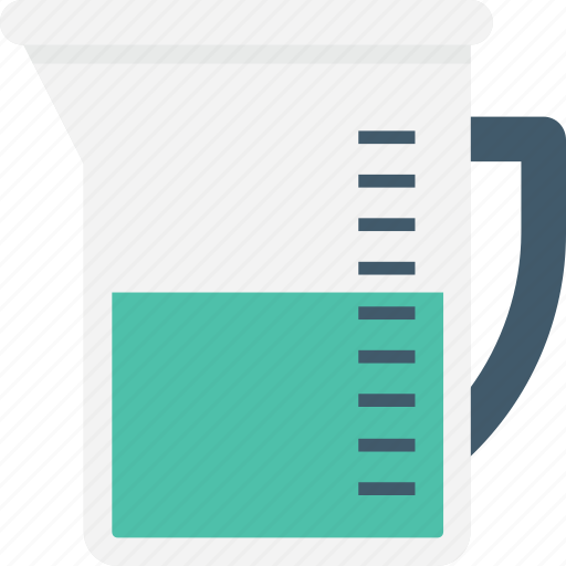 beaker, chemical, glass beaker, lab test, measuring cup icon