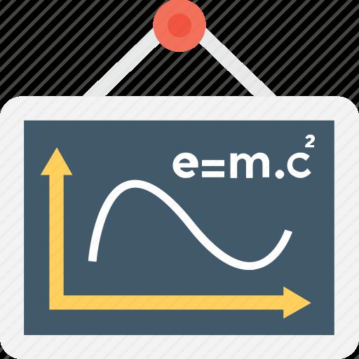 einstein formula, emc2, formula, physics, science formula icon