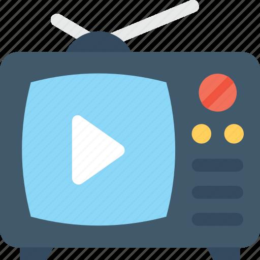 electronics, retro tv, transmission, tv, tv set icon