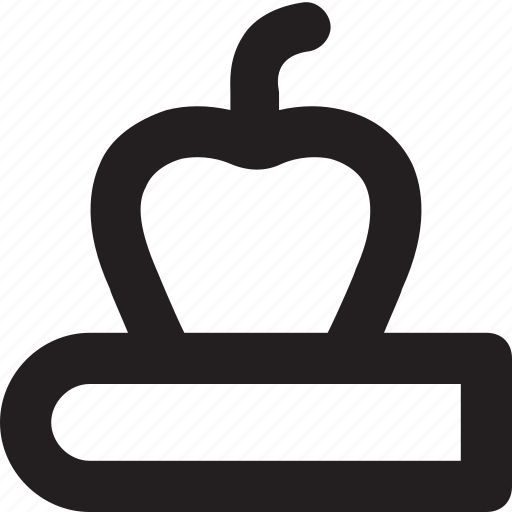 apple, book, learning, nutrition, study icon