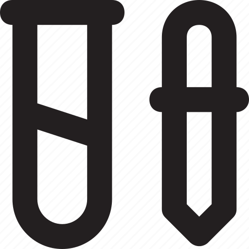 dropper, pipet, pipette, pipettor, sample tube icon