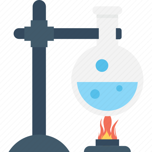experiment, flask, lab research, laboratory, spirit lamp icon