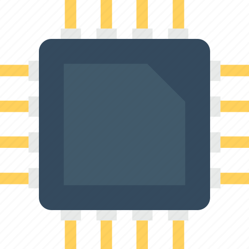 chip, electronic, memory chip, microprocessor, processor chip icon