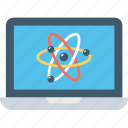 atom, laptop, macbook, notebook, science icon