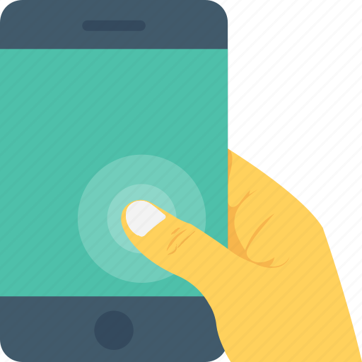 hand, mobile, smartphone, technology, touchscreen icon