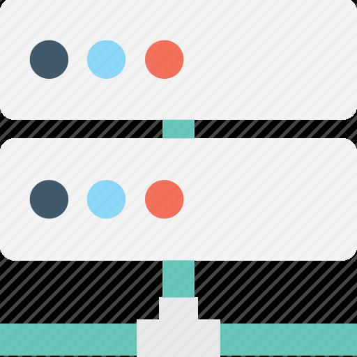 database, hosting, networking, server, server connection icon