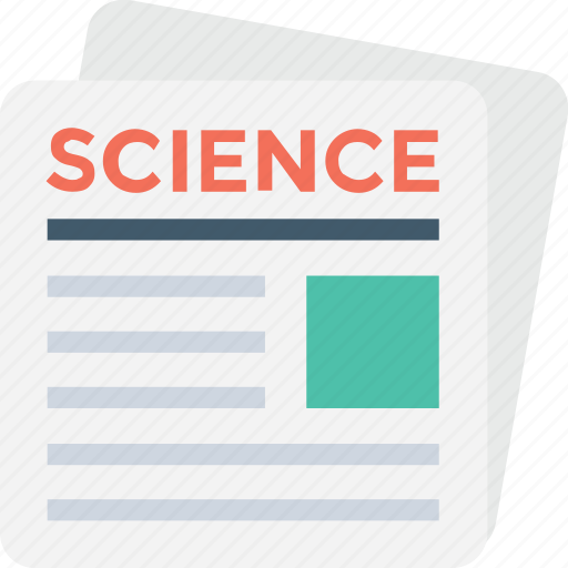 article, blog, knowledge, science, science article icon