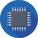 computer chip, memory chip, microchip, microprocessor, processor chip icon