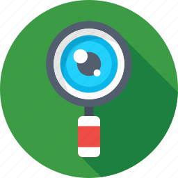 look, magnifier, monitoring, search, zoom icon