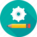 cogs, compose, maintenance, preferences, repair icon