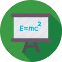 easel board, einstein formula, emc2, formula, scientific formula icon