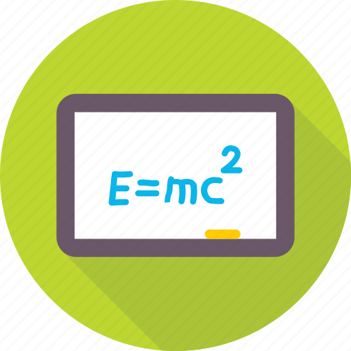 einstein formula, emc2, formula, physics, scientific formula icon