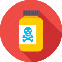chemical, danger, dangerous, poison, warning icon