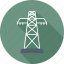 electric, electric tower, electricity, energy, plant icon