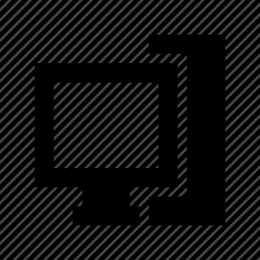 computer, desktop, desktop computer, desktop pc, personal computer icon