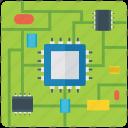 chip, memory chip, microchip, microcontroller, microprocessor icon
