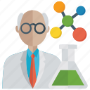 analyst, lab technician, researcher, science teacher, scientist icon