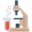 analysis, biological study, microscopic experiment, microscopic study, research icon