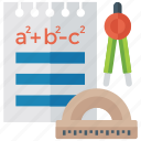 algebra, algebra and geometry, calculus algebra, calculus geometry, mathematics, maths study icon