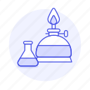flask, experiments, chemical, alcohol, burner, science, technology, erlenmeyer, lab icon