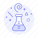 chemical, chemistry, erlenmeyer, experiments, flask, lab, science, technology icon