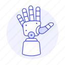 futuristic, prosthesis, limb, artificial, science, technology, cyborg, hand, electronic, prosthetic icon