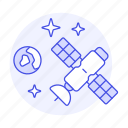 communication, outer, satellite, science, space, station, technology, transmission icon