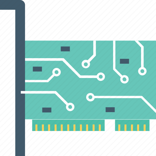 audio card, electronic, hardware, lan card, sound card icon