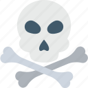 bones, danger, jolly roger, skull, warning icon