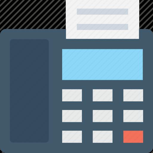 electronics, facsimile, fax, fax machine, landline icon